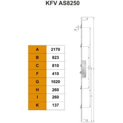KFV AS8250 meerpuntsluiting - Technische tekening