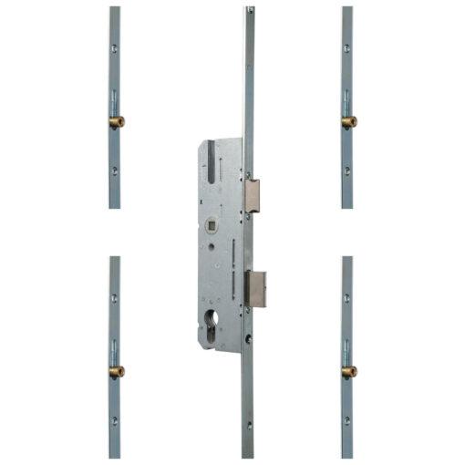 KFV AS850 meerpuntsluiting met 4 rolnokken - Gesloten toestand