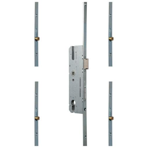 KFV AS850 meerpuntsluiting met 4 rolnokken - Open toestand