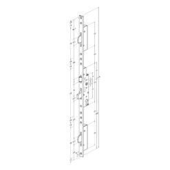 Technische tekening Sobinco 8401 met U voorplaat