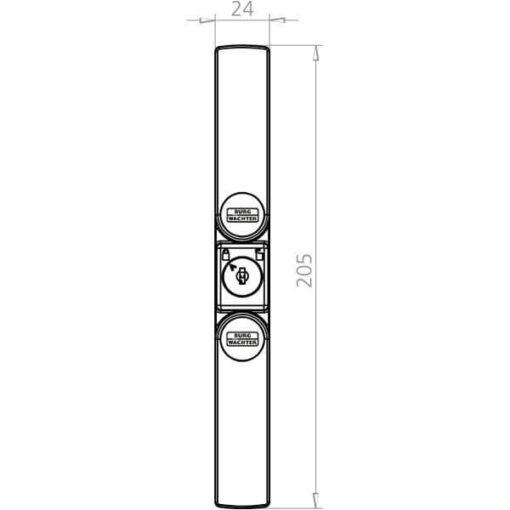 Burgwachter WS 22 technische tekening