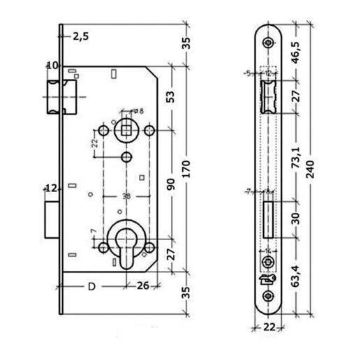 Litto A2690 technische tekening