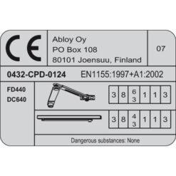 Assa Abloy DC640 - Certificering