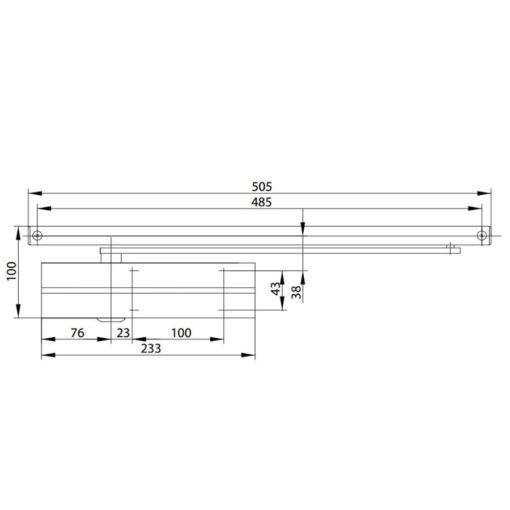 Assa Abloy DC135 - Technische tekening