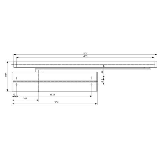 Assa Abloy DC340 - Technische tekening