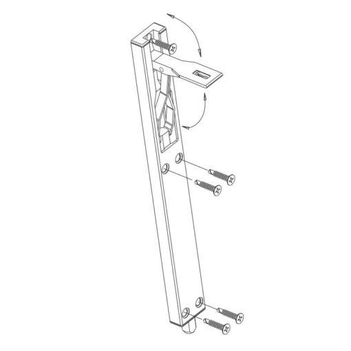 Fapim kantschuif 3715 - Technische tekening
