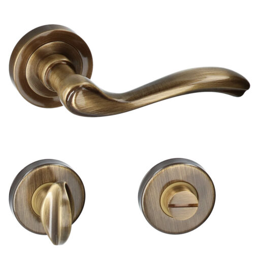 HDD PRO 6.032.062 deurkruk Erica - Brons - Rozet met WC sluiting