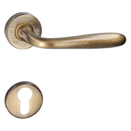 HDD PRO 6.056.061 deurkruk Alma - Brons - Rozet met cilinderopening