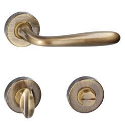 HDD PRO 6.056.062 deurkruk Alma - Brons - Rozet met WC sluiting