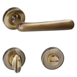 HDD PRO 6.200.060 deurkruk Vera- Brons - Rozet met WC sluiting