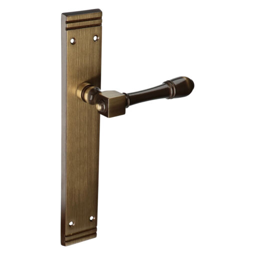 HDD Pro Aldagonda deurkruk op plaat brons - 6.091.063