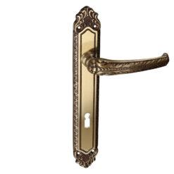 HDD Pro Lydia deurkruk op plaat brons - 6.096.060