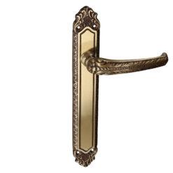 HDD Pro Lydia deurkruk op plaat brons blind - 6.096.063
