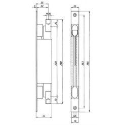 Deni kantschuif 9221 - Technische tekening