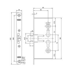 Nemef industrieslot 1739 - Technische tekening