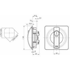 Ronis 23500 - Technische tekening