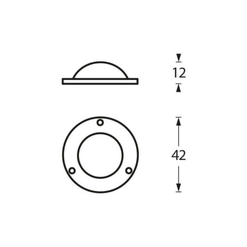 Intersteel Afdekplaatje Deurknop chroom - Technische tekening