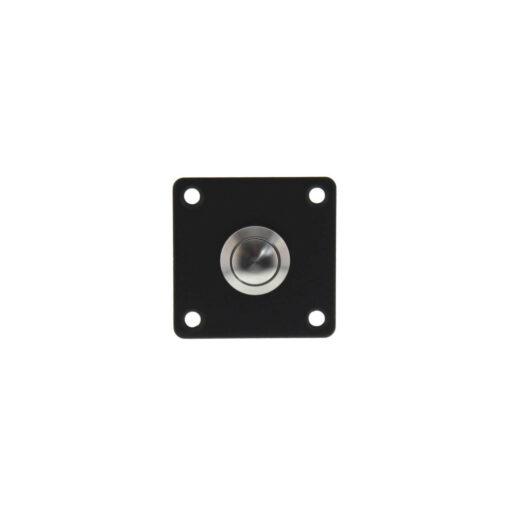 Intersteel Deurbel vierkant INOX/mat zwart
