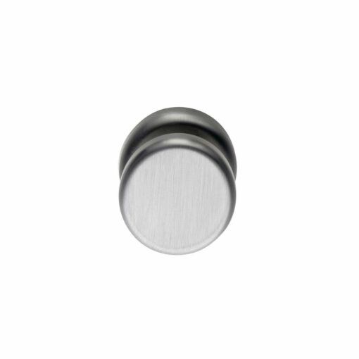 Intersteel Deurknop Nobile plat vast op rozet INOX geborsteld