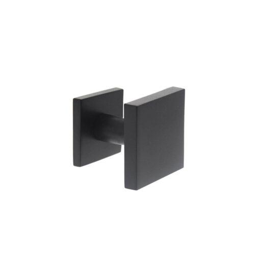 Intersteel Deurknop vast verkropt vierkant mat zwart