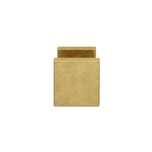 Intersteel Deurknop vierkant Koper getrommeld