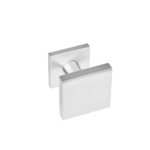 Intersteel Deurknop vierkant centraal INOX geborsteld 64 mm