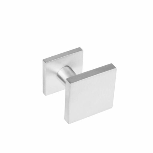 Intersteel Deurknop vierkant verkropt INOX geborsteld
