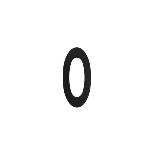 Intersteel Huisnummer 0 INOX mat zwart