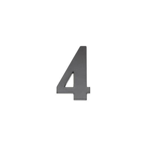 Intersteel Huisnummer 4 antraciet titaan PVD