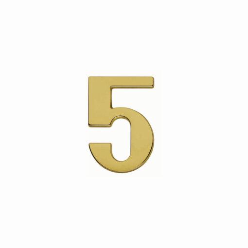 Intersteel Huisnummer 5 Koper titaan PVD