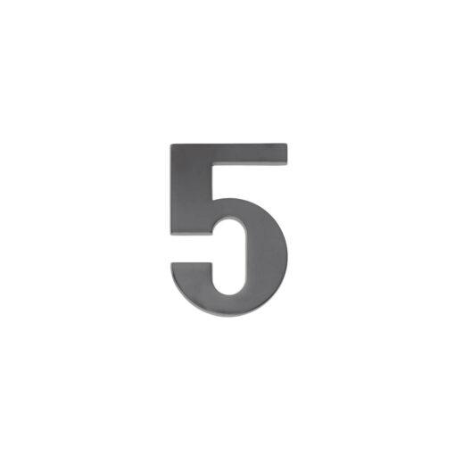 Intersteel Huisnummer 5 antraciet titaan PVD