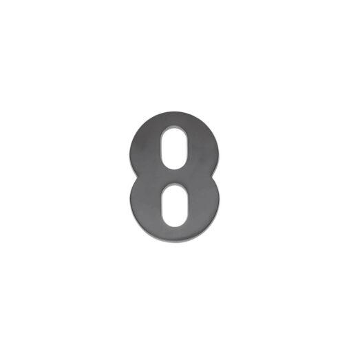 Intersteel Huisnummer 8 antraciet titaan PVD