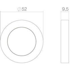 Intersteel Rozet met profielcilindergat rond chroom - Technische tekening