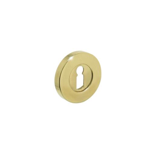 Intersteel Rozet rond verdekt met sleutelgat Koper gelakt