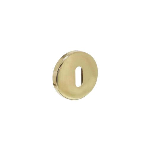 Intersteel Rozet sleutelgat bol rond Koper gelakt