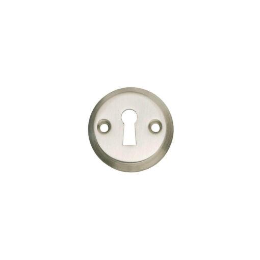Intersteel Rozet sleutelgat rond schroefgat nikkel mat