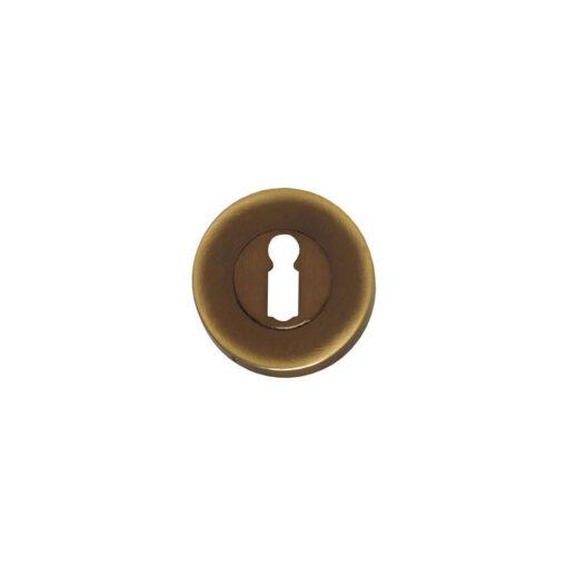Intersteel Rozet sleutelgat rond verdekt Koper gebruineerd