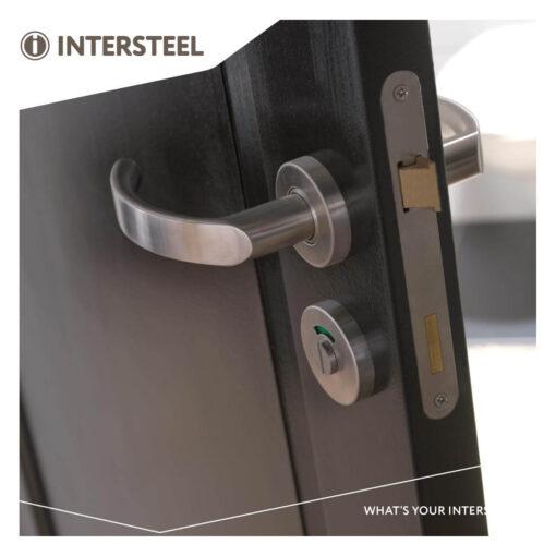 Intersteel Rozet toilet-/badkamersluiting rond verdekt INOX geborsteld 8 mm - Sfeerbeeld