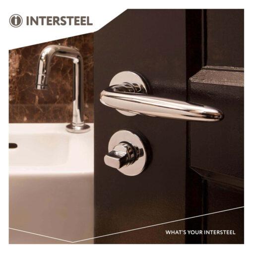Intersteel Rozet toilet-/badkamersluiting rond verdekt kunststof chroom 8 mm - Sfeerbeeld