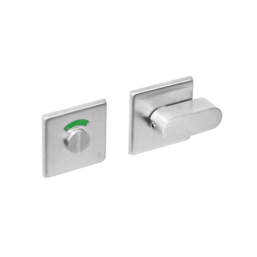 Intersteel Rozet toilet-/badkamersluiting vierkant INOX geborsteld