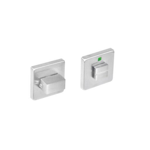 Intersteel Rozet vierkant met toilet-/badkamersluiting INOX geborsteld 5 mm