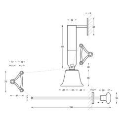 Intersteel Trekbel mat zwart - Technische tekening