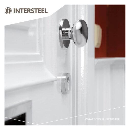 Intersteel Veiligheidsrozet rond SKG3 Cilinderbescherming chroom - Sfeerbeeld