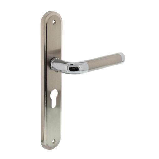 Intersteel deurklink Agatha op schild profielcilindergat 55 mm chroom