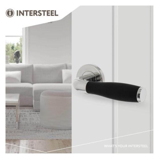 Intersteel deurklink Bas Konig Solid Fusion op rozet INOX gepolijst - Sfeerbeeld