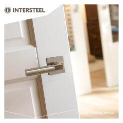 Intersteel deurklink Bau-stil rond op vierkant rozet nikkel mat - Sfeerbeeld