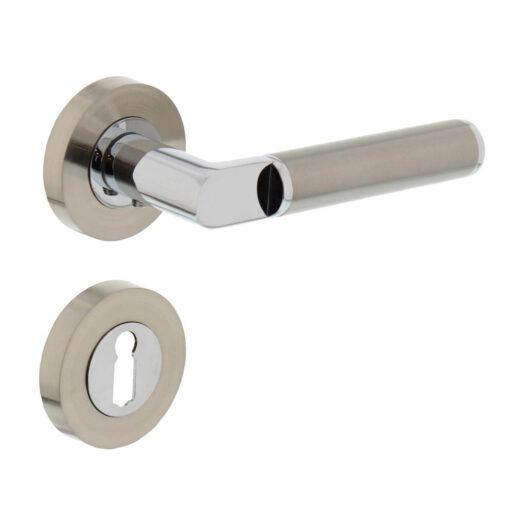 Intersteel deurklink Jean op rozet sleutelgat chroom