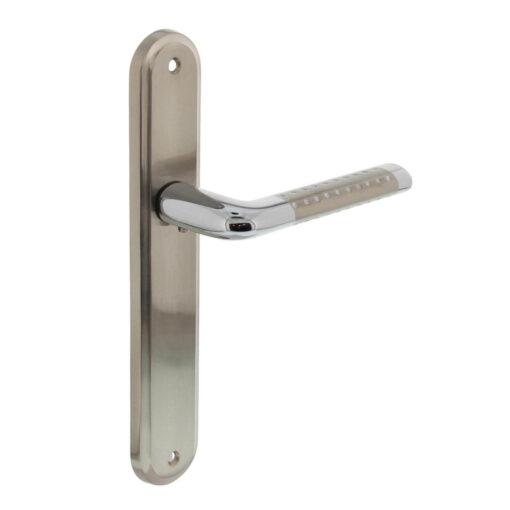 Intersteel deurklink Marion op schild blind chroom