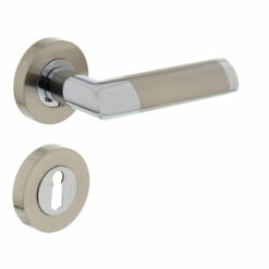 Intersteel deurklink Nicol op rozet sleutelgat chroom