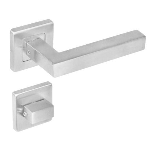 Intersteel deurklink Vierkant op vierkant rozet toilet-/badkamersluiting INOX geborsteld